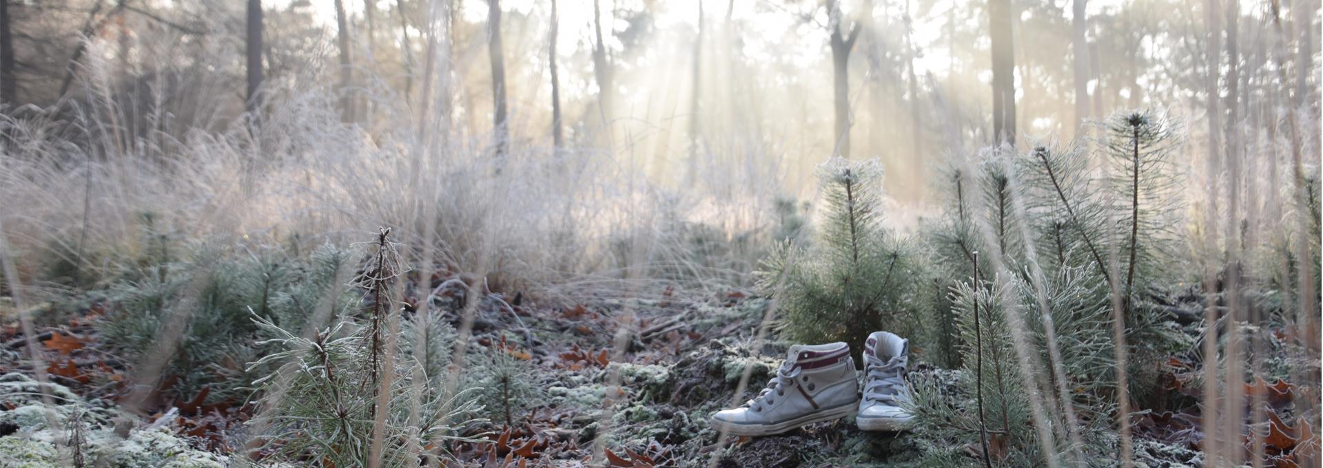 Mijn schoenen tijdens een winterwandeling!